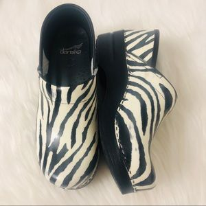 Dansko Zebra Print Patent Leather - 38